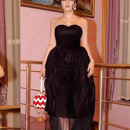 Sexy Little Black Cocktail Dresses With Sweetheart Ruffled Short Column Prom Gown Ted Length Low Back Plus Size Girls Party Dress