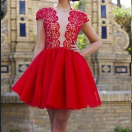 Cap Sleeve Homecoming Dresses, Homecoming Dresses, Juniors Homecoming Dresses, Cheap Homecoming Dresses