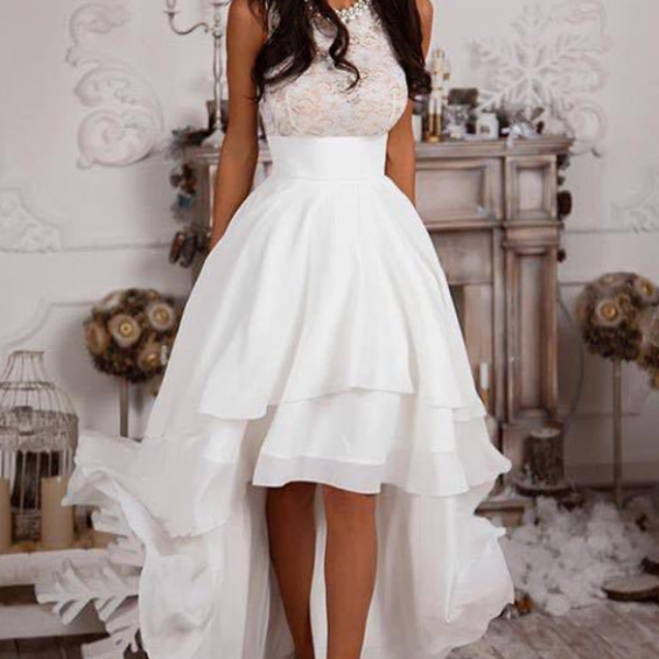 Homecoming Dress,Homecoming Dresses,High Low Homecoming Dresses,Lace Homecoming Dresses,High Low Prom Dresses