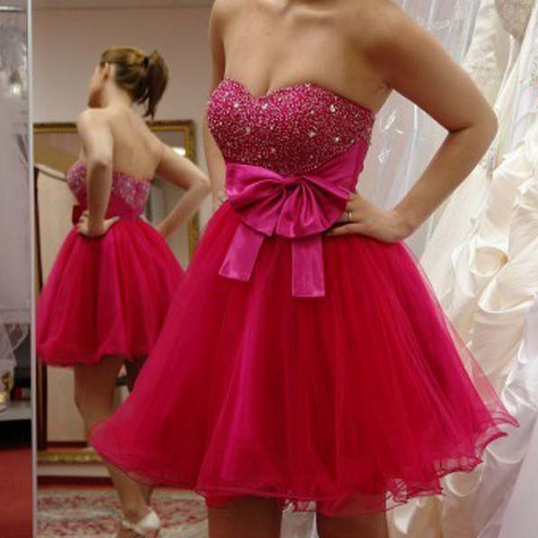Sweetheart Homecoming Dress, Short Homecoming Dress, Beading Homecoming Dress, Mini Homecoming Dress