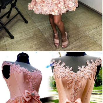 Homecoming Dresses, pink Homecoming Gowns short prom dresses