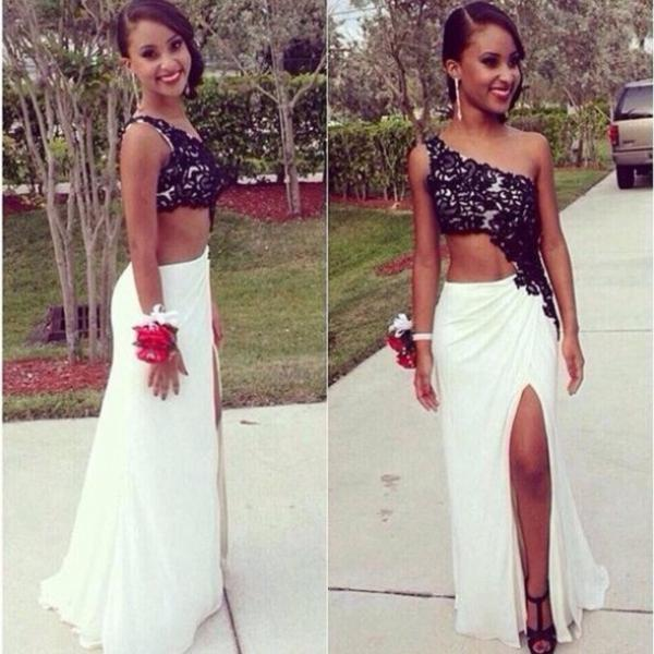 Custom Made A Line Floor Length Prom Dresses Elegant Formal ...