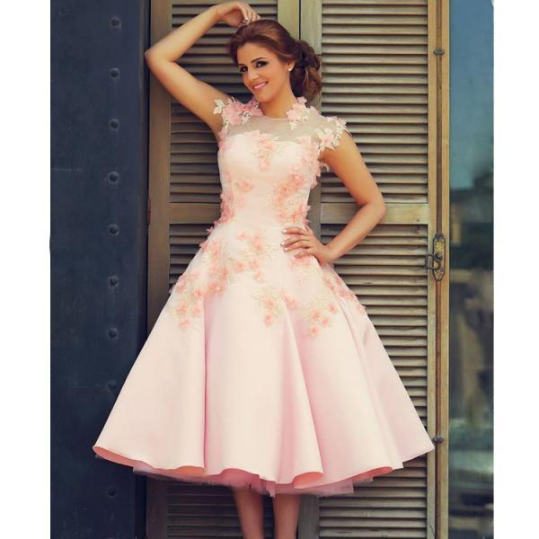 Said Mhamad Prom Dresses High Neck Evening Dresses Pink Special ...