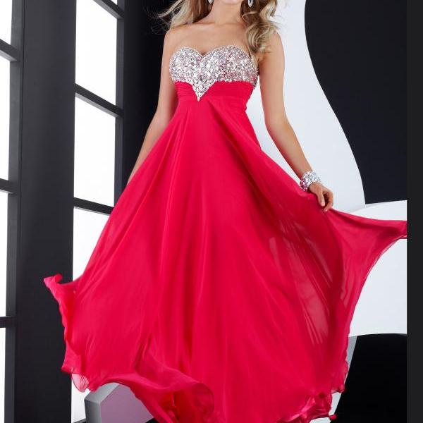 Long Evening dresses 2016,chiffon Evening dress,Evening Party Gown,Prom dresses,With Beading Evening Dress