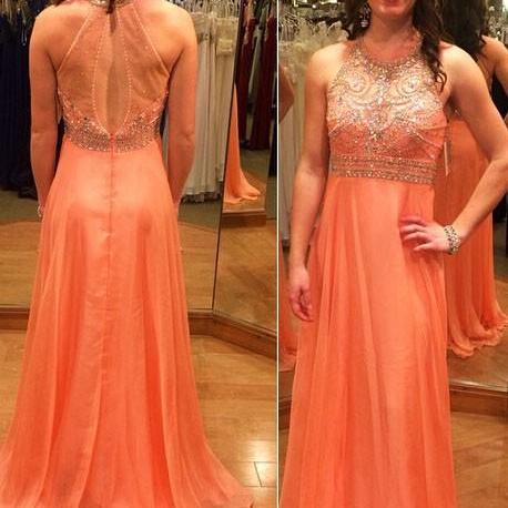Beadings Evening Gown