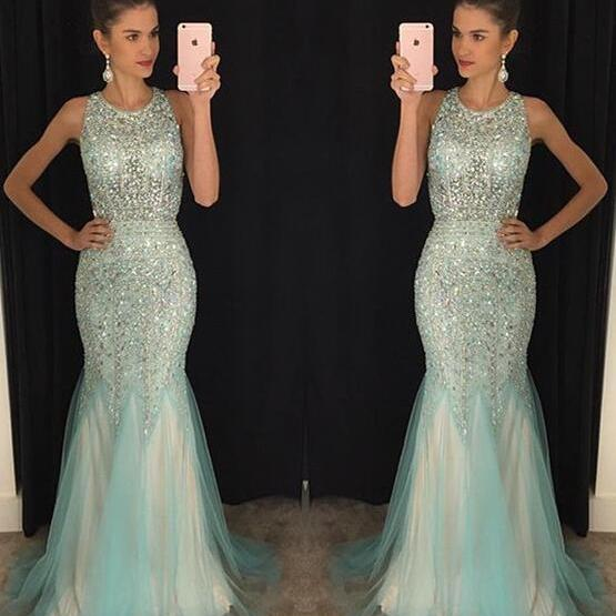 Fashion Prom Dresses,Prom Dress,Tulle Formal Gown,Backless Prom Dresses,Sparkle Evening Gowns,Tulle Formal Gown For Teens